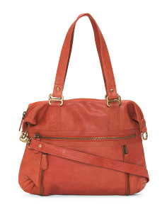 Leather Shoulder Satchel