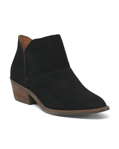 Suede Low Ride Booties