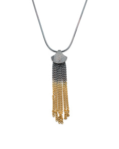 Handmade In England Siren Sterling Silver Tassel Necklace