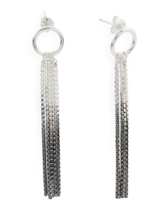Handmade In England Vesper Sterling Silver Ombre Earrings
