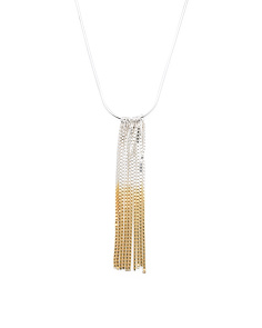 Handmade In England Vesper Sterling Silver Fringe Necklace