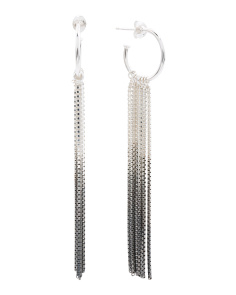 Handmade In England Vesper Sterling Silver Fringe Earrings