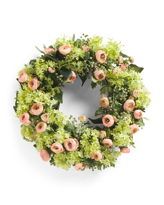 Faux Ranunculus Wreath