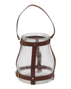 Faux Leather Lantern