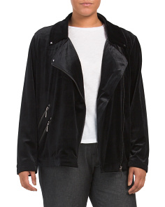 Plus Velvet Moto Jacket