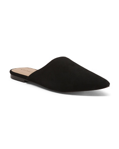 Pointy Toe Suede Slides