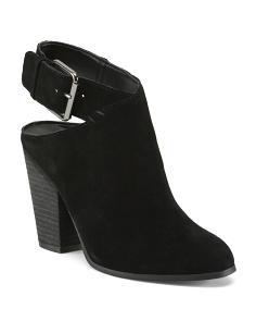 Ankle Strap Suede Booties