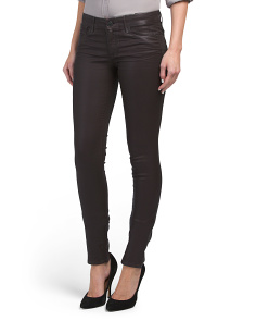 Made In USA Leather Effect Coated Skinny Jeans