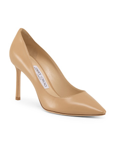 Made In Italy Leather Pointy Toe Pumps
