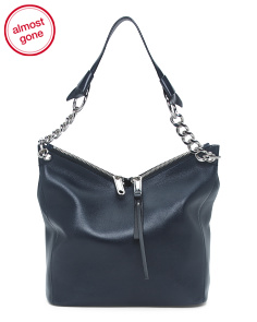Made In Italy Nappa Leather Shoulder Bag