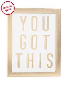 14x18 You Got This Framed Wall Art