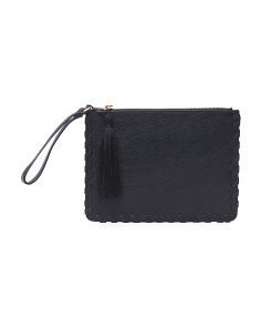Madison Leather Wristlet Clutch