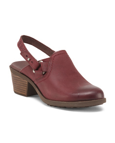 Foxy Leather Clogs