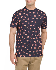 Palm Tree Print Slub Tee
