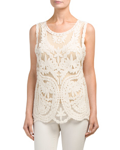 Sleeveless Vintage Embroidered Top