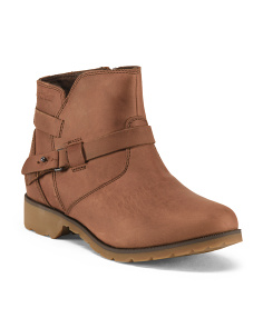 De La Vina Waterproof Leather Booties