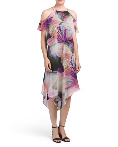 Printed Drape Dress