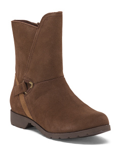 Moto Style Suede Comfort Boots