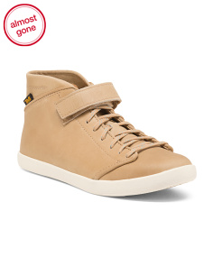 Leather High Top Comfort Sneakers