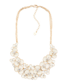Ivory Crystal Flower Necklace