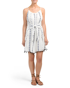 Juniors Printed Knot Front Dress