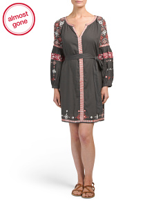 Villette Embroidered Tunic Dress