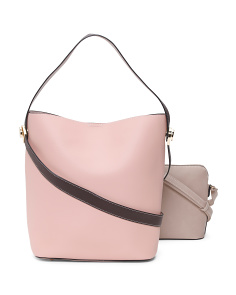 Two Piece Hobo With Crossbody Strap