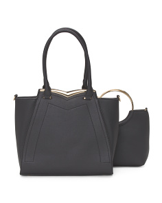 2pc Satchel And Tote Set