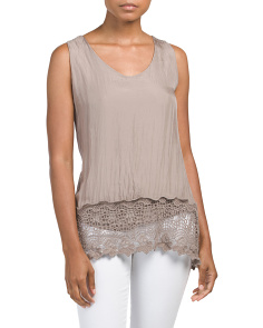 Made In Italy Sleeveless Silk Top