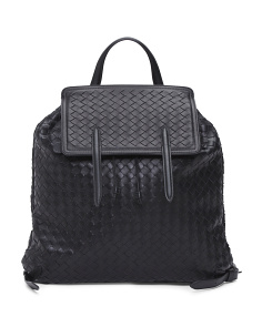 Made In Italy Woven Leather Back Pack