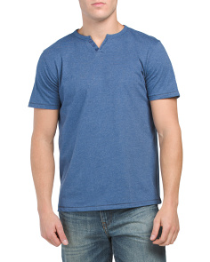 Heathered Henley Shirt