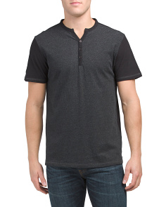 Heathered V Neck Shirt