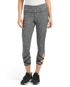 Criss Cross Open Bottom Capris