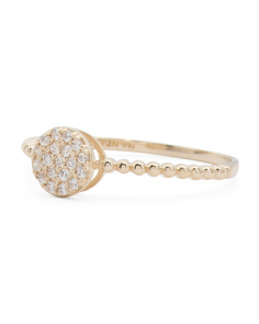 14k Gold Bezel Cubic Zirconia Ring