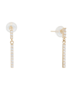 14k Gold Linear Dangle Earrings