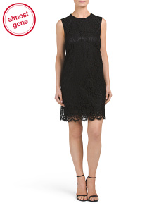 Made In Italy Sleeveless Lace Dress