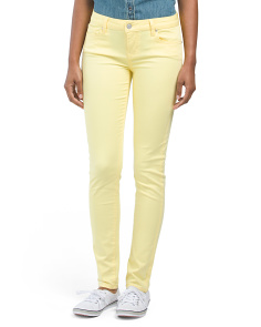 Juniors Mid Rise Skinny Denim Pants