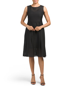 Textured Grid Dress