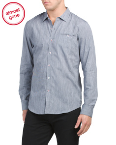 Slim Fit Slub Solid Shirt