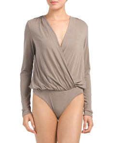 Juniors Made In USA Plunging V-neck Bodysuit