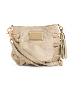 Felicity Pleated Leather Crossbody