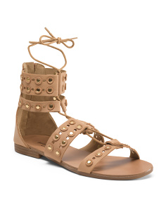 Made In Italy Leather Gilly Sandals