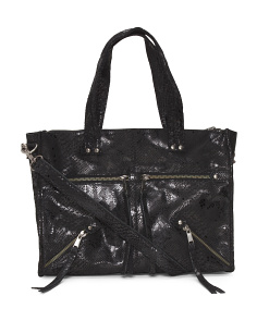 Wilma Snake Leather Satchel