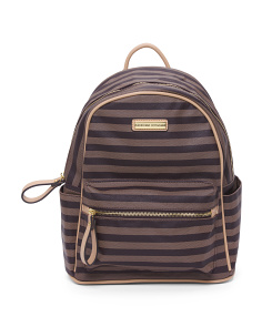 Striped Mini Backpack
