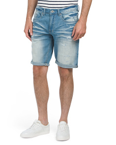 Six-x Destructed Denim Shorts