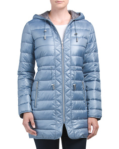 Long Puffer Coat With Hood