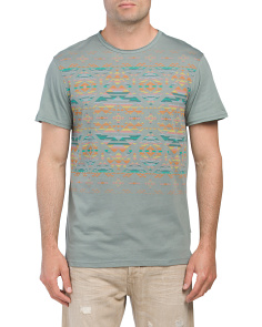 Aztec Placement Print Tee