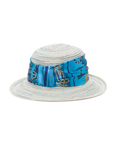 Made In Italy Straw Blend Hat