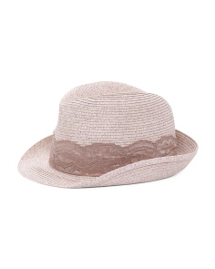 Made In Italy Melange Fedora