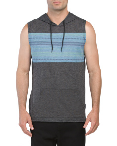 Tribal Space Dye Sleeveless Hoodie